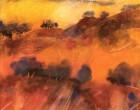 Colline toscane sotto il cielo turchino