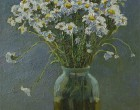Daises-oil-still-life-with-flowers-on-the-table-by-artist-Daniil-Belov