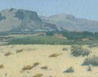 Sicilia-at-noon-oil-painting-desert-landscape-artist-Daniil-Belov