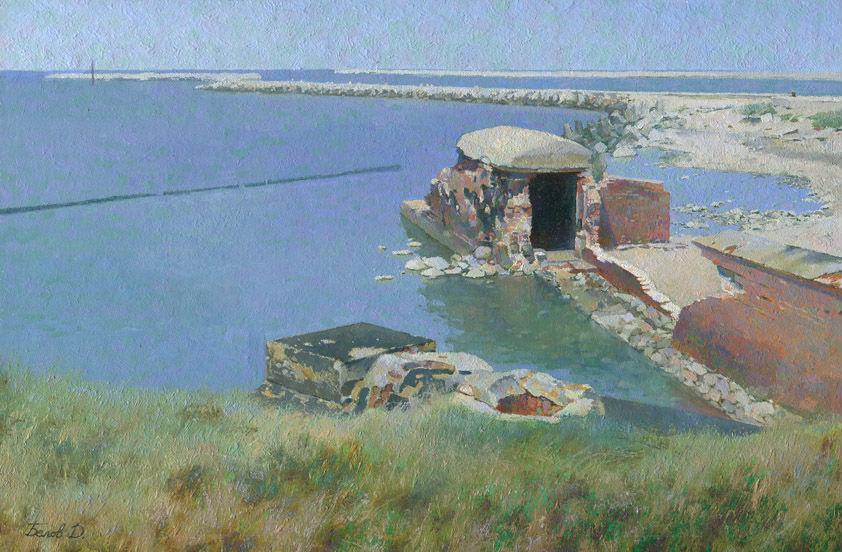 West-fort-oil-painting-landscape-artist-Daniil-Belov