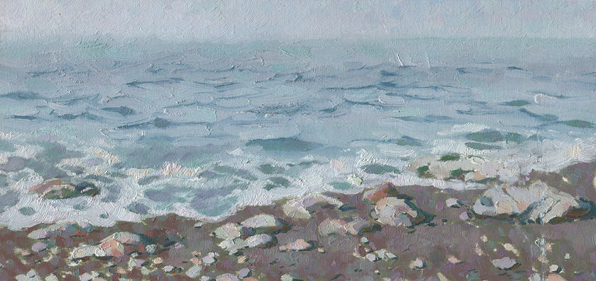 Adriatic-shore-oil-painting-landscape-seascape-artist-Daniil-Belov