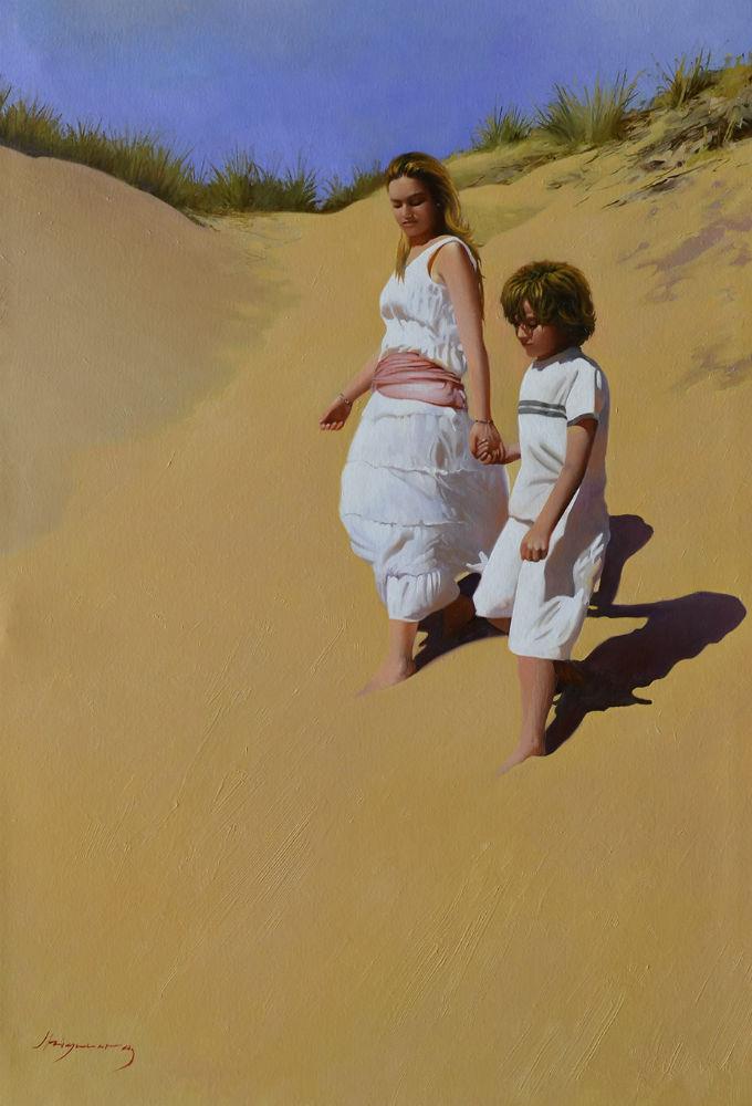 paseo por las dunas 92x65