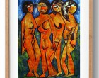 four female figures 2 framed
