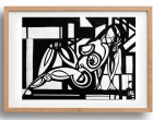 Abstracted Nude 3  Wooden frame