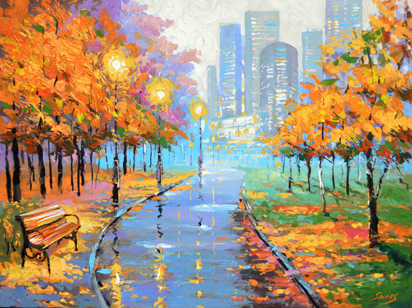 -autumn in the big city