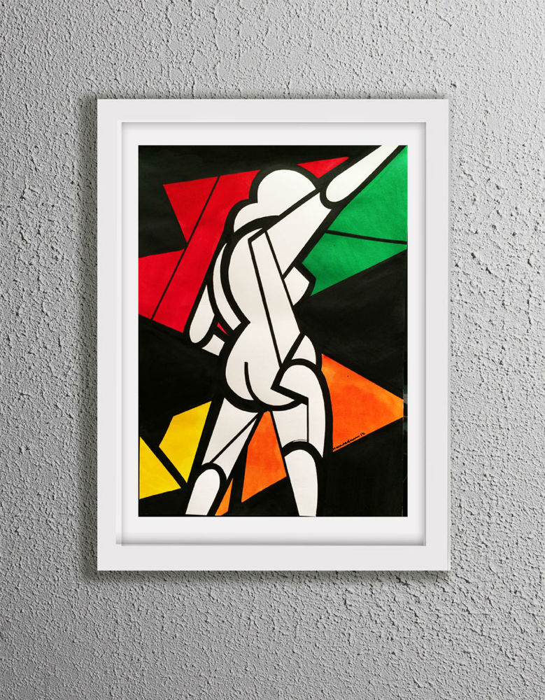 Abstracted Nude FRAMED