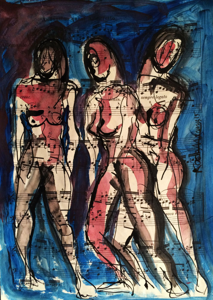 Three Female Figures 3