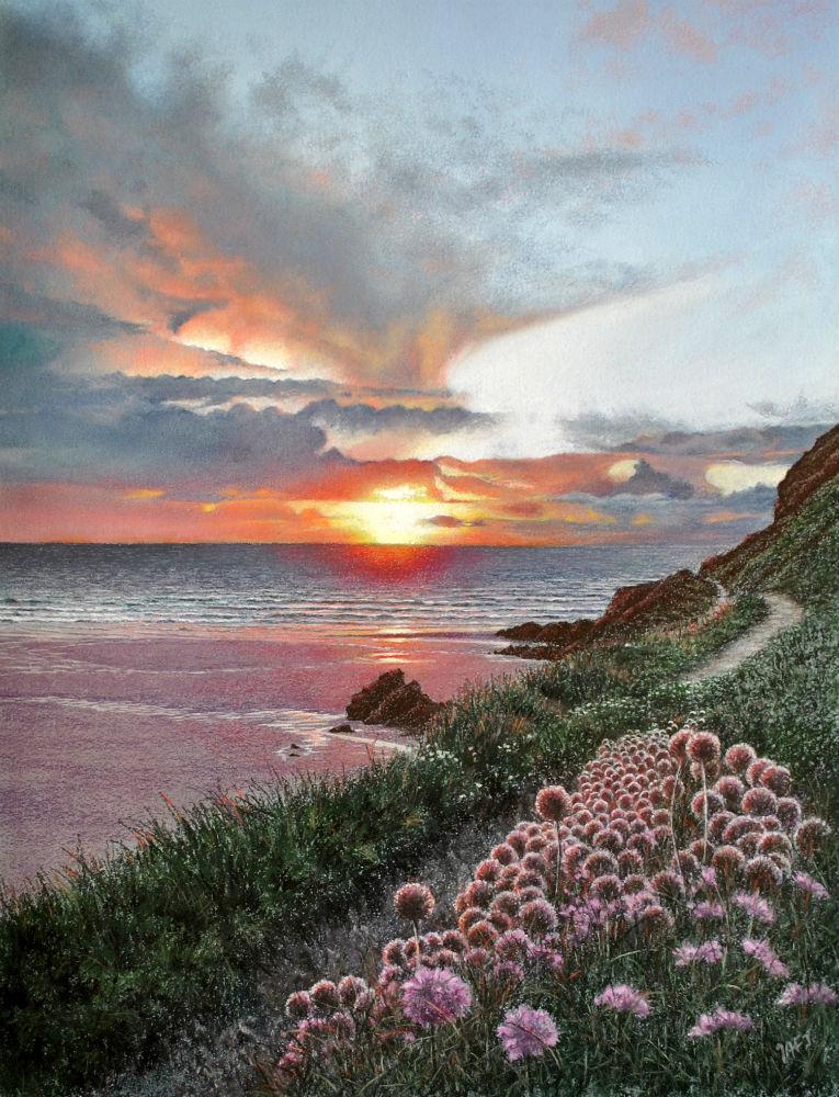 Cornwall sunset.40b