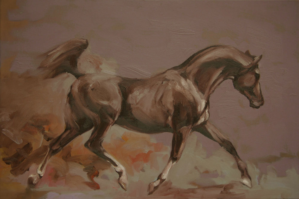 Arab (study I)  2015 oil on canvas 61 x 91cm copy