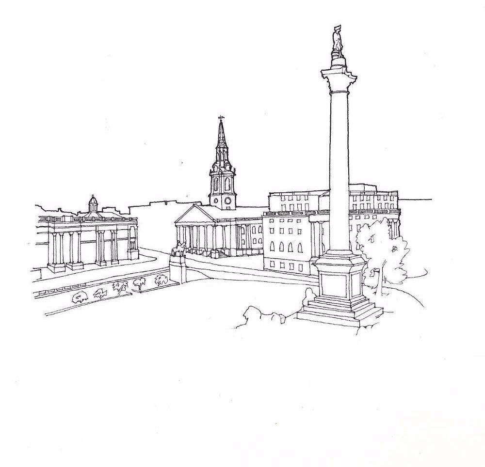 Nelsons Column sketch scan Sept16