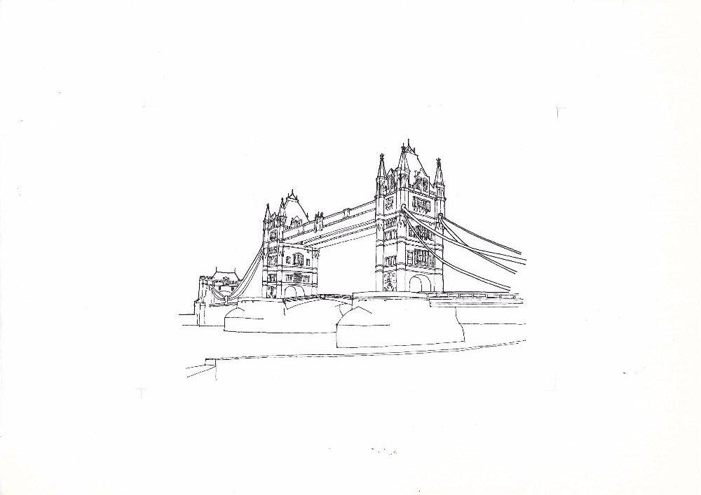 Tower Bridge sketch scan Set16