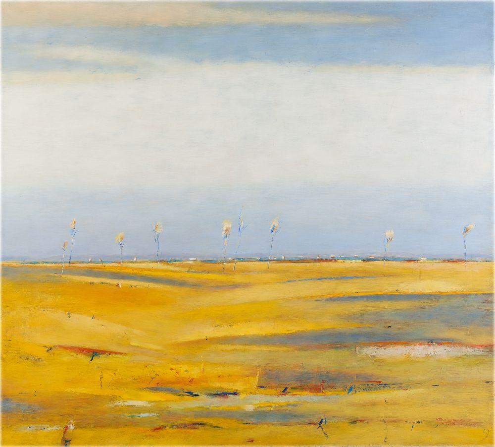 Peizazas su geltonais laukais